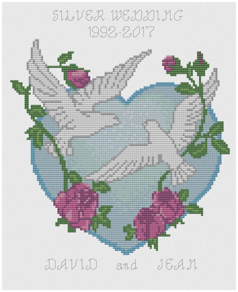 Doves and Heart Sampler