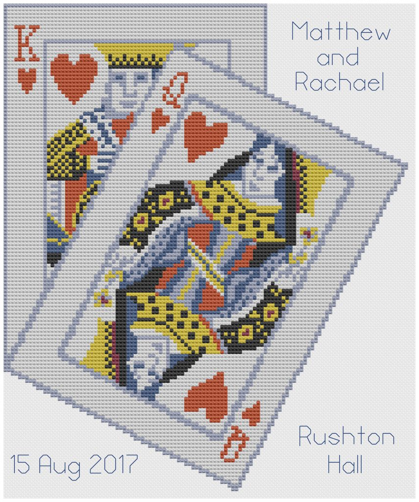 King & Queen Hearts Wedding sampler