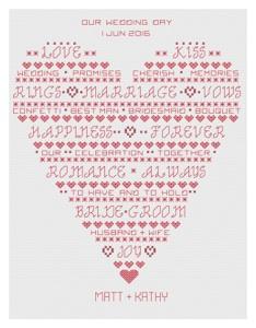 Pages from Blackwotk Heart Wedding Sampler