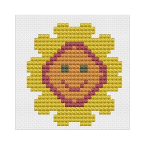 Pages from First Cross Stitch Kit Sunflower