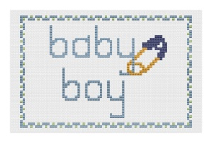 Pages from baby boy card