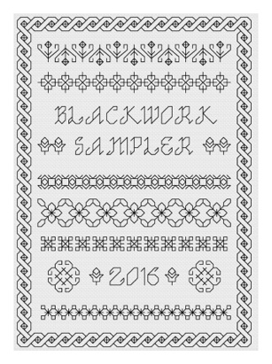 Pages from blackwork year sampler
