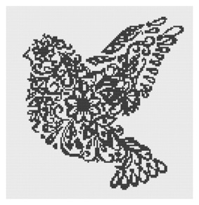 Pages from filigree bird