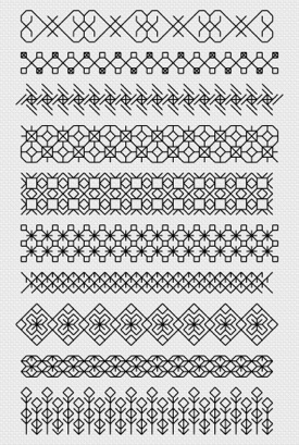 Macintosh HD:Users:Fiona:Documents:florashell:blackwork sampler:blackwork sampler.chart