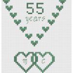 emerald wedding hearts