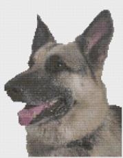Scotty Dog Face Dog Cross Stitch Kit by Florashell