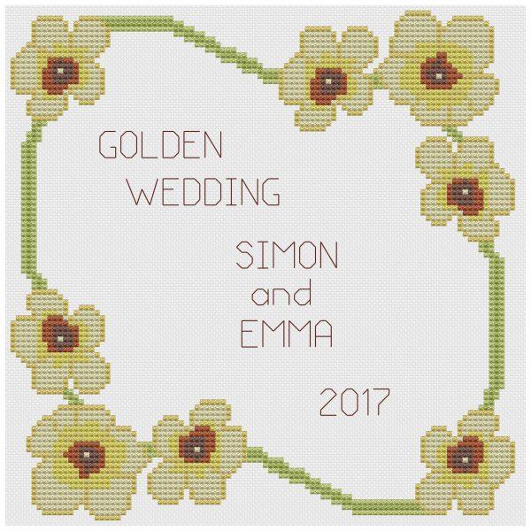 golden wedding flower