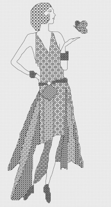 Macintosh HD:Users:Fiona:Documents:florashell:blackwork art deco lady:yellow lady.chart