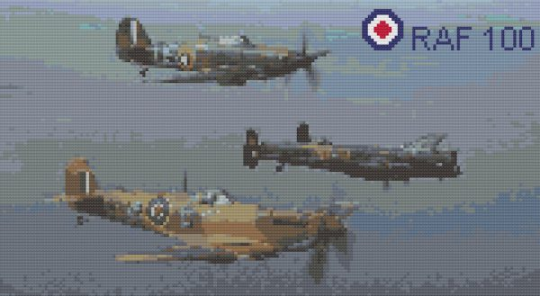 Stitches raf 100 memorial flight
